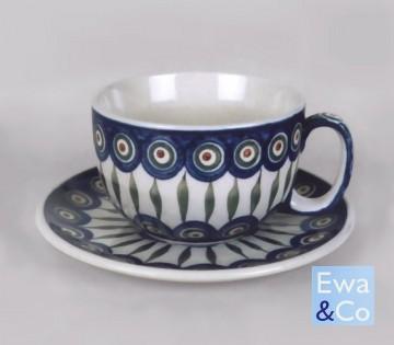 cup café au lait + saucer